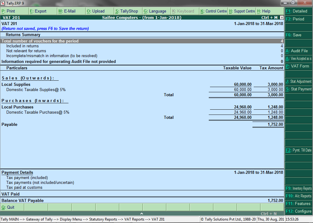 Tally ERP 9 Software for Business Management   Saifee Computers